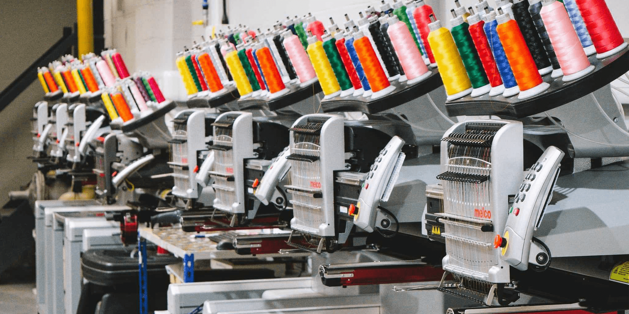 inkthreadable's eight embroidery machines