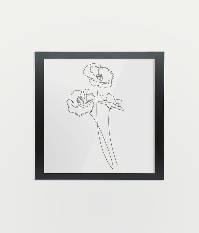 "Framed 8"" Fine Art Print - Square/Black"