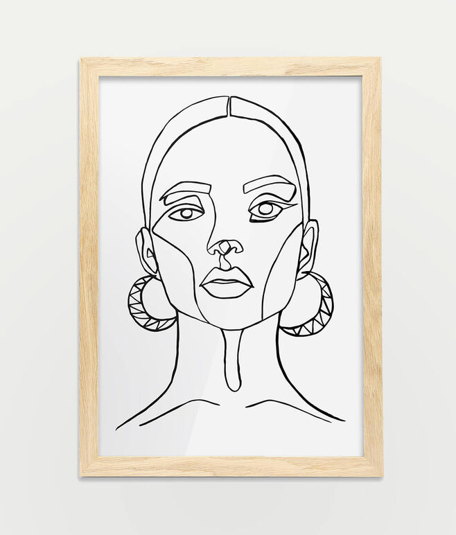 Framed A3 Fine Art Print - Portrait/Oak