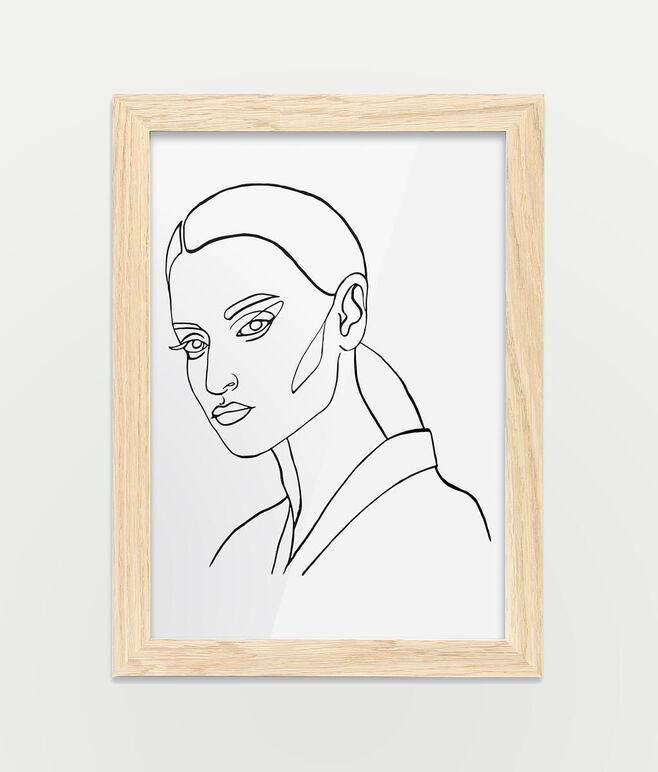 Framed A4 Fine Art Print - Portrait/Oak