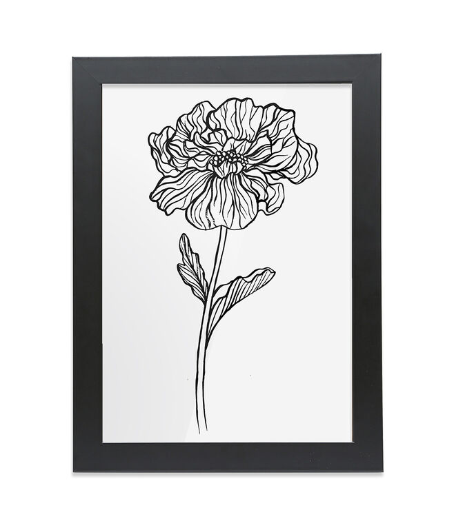 Framed A4 Fine Art Print - Portrait/Black