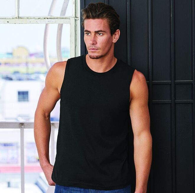 Canvas Jersey Muscle Tank Top